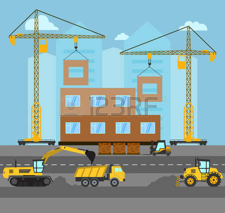 Building site clipart png library library 19,230 Building Site Stock Vector Illustration And Royalty Free ... png library library