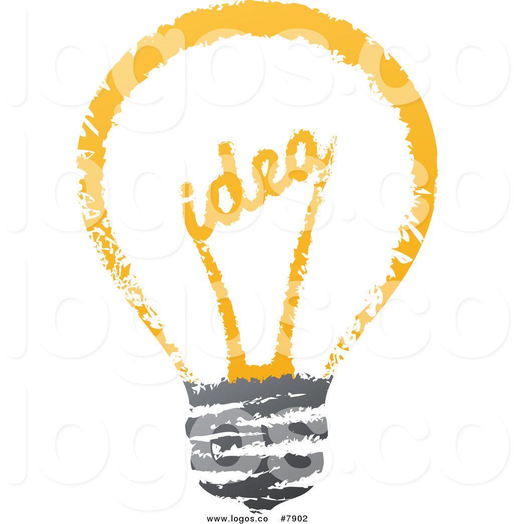 Bulb logo clipart clipart Royalty Free Clip Art Vector Sketched Idea Filament Light Bulb Logo ... clipart