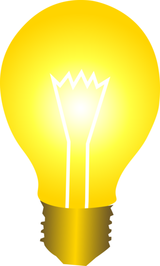 Bulb pictures clipart graphic library Clip art of a light bulb glowing with golden light | Assorted free ... graphic library