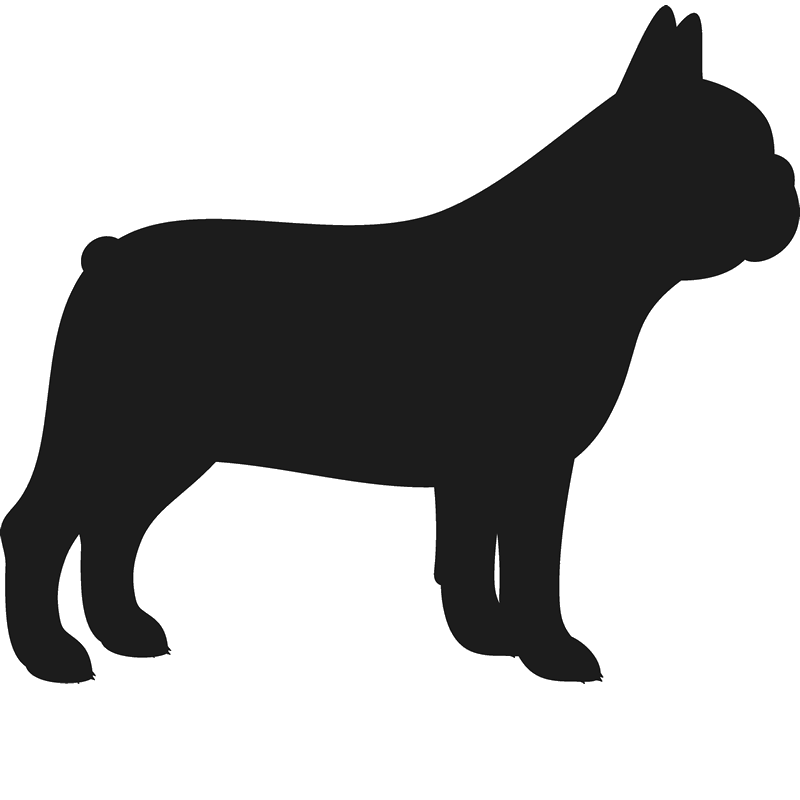 Dog profile clipart svg black and white library French Bulldog Stamp (Silhouette) | Art at Heart | Pinterest ... svg black and white library