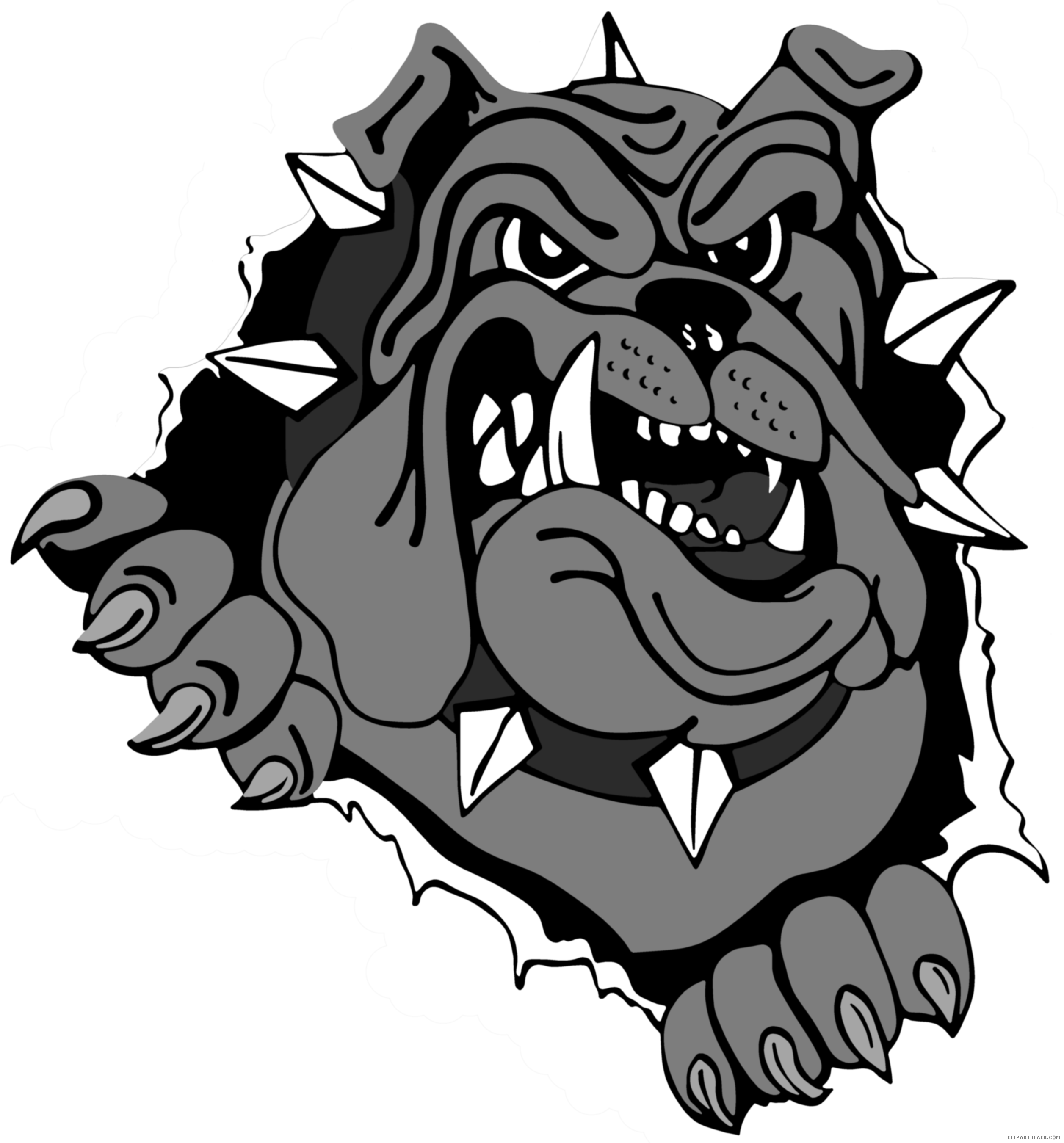 Bulldog football mascot clipart clip freeuse stock Bulldog Head Clipart - ClipartBlack.com clip freeuse stock