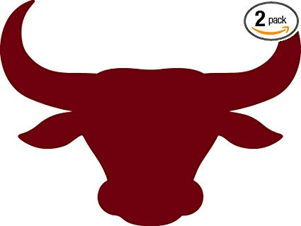 Bull head silhouette clipart image transparent library Amazon.com: ANGDEST Bull Head Silhouette (Burgundy) (Set of 2 ... image transparent library
