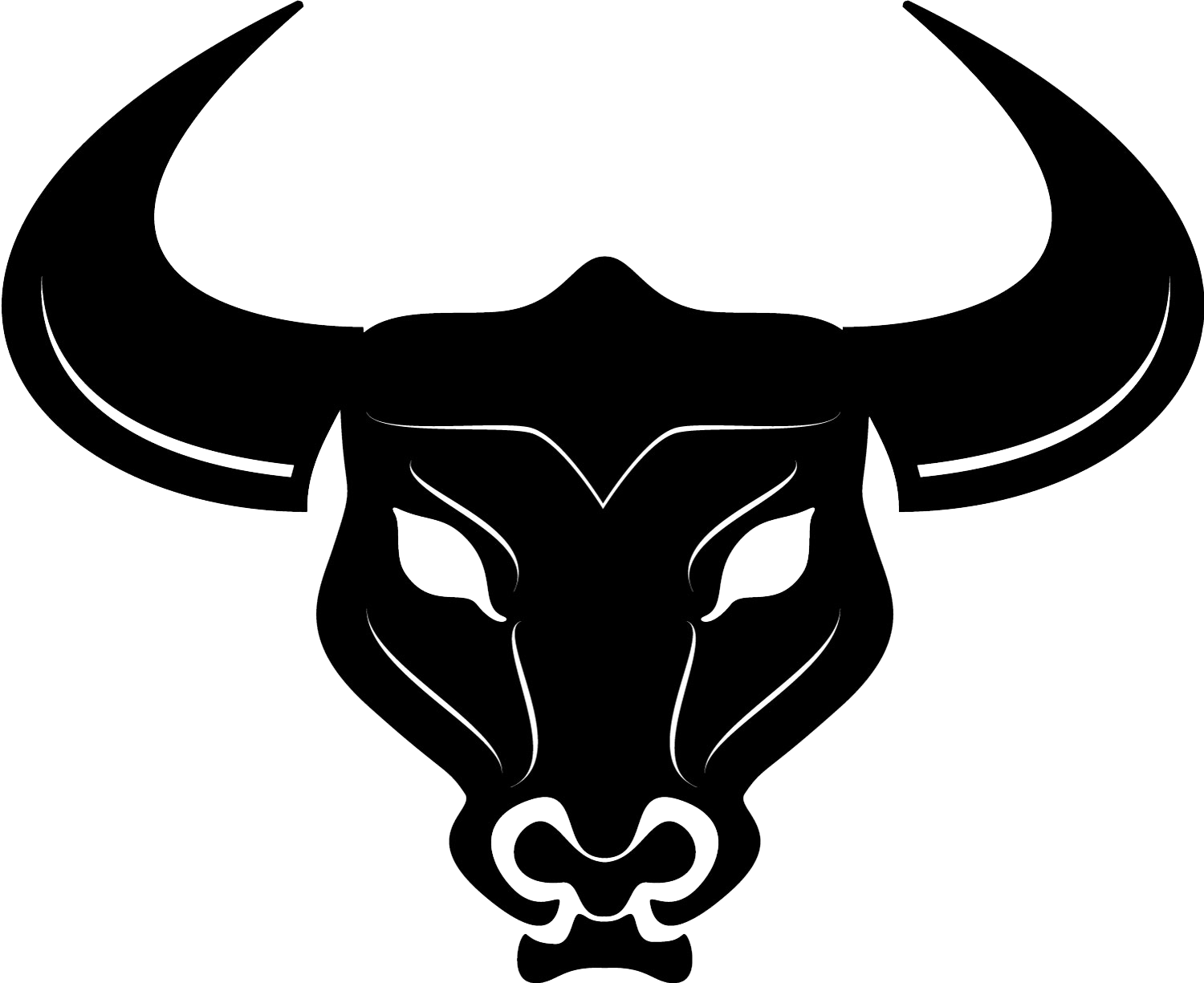 Bull head silhouette clipart vector royalty free download Cattle Bull Horn Clip art - ferret png download - 1500*1225 - Free ... vector royalty free download