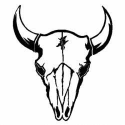 Bull skull clipart picture royalty free Pin by Tonia Schemmel on stencils | Cow skull art, Cow skull, Bull ... picture royalty free