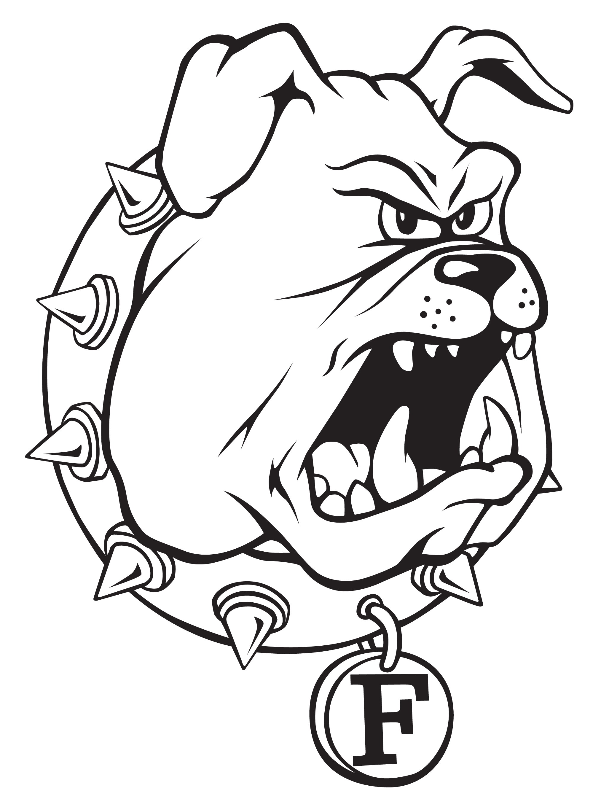 Bulldog clipart black and white basketball png transparent download Logos - Ferris State University png transparent download