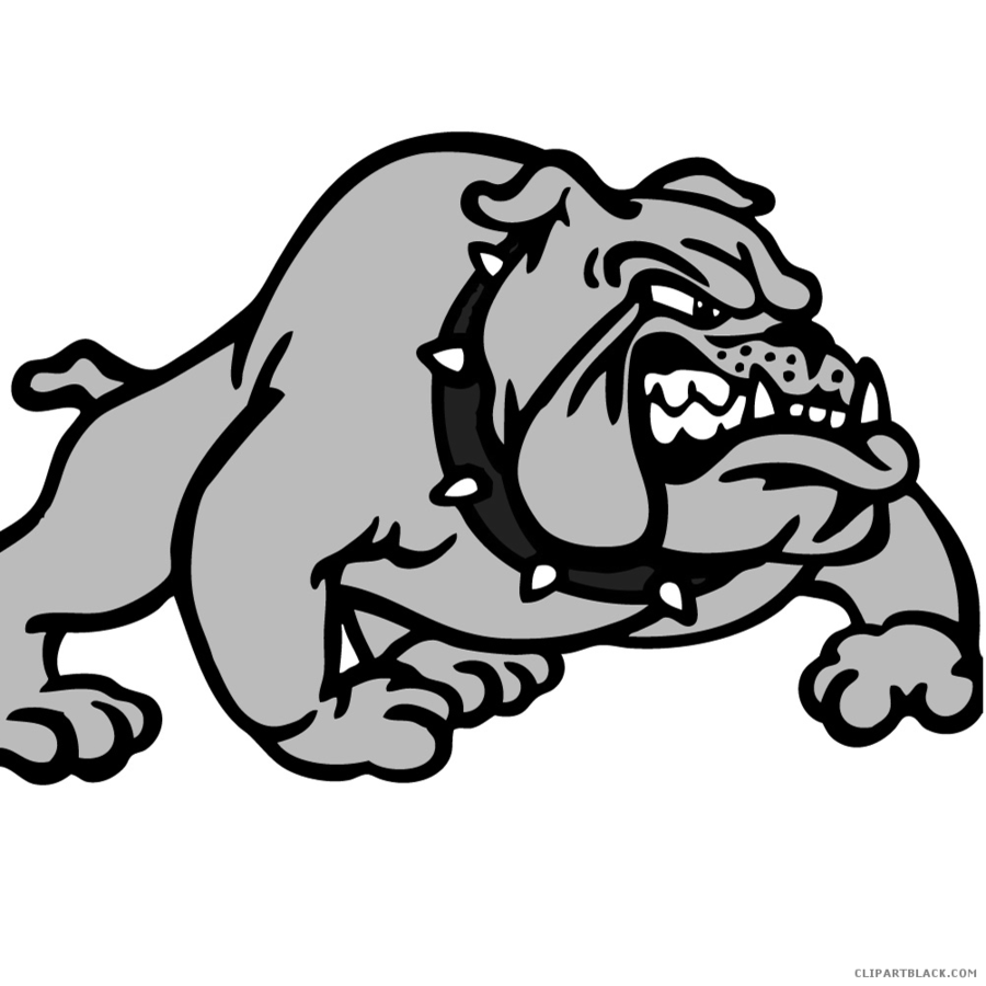 Bulldog clipart gray banner royalty free library School Black And White clipart - Bulldog, Dog, White, transparent ... banner royalty free library