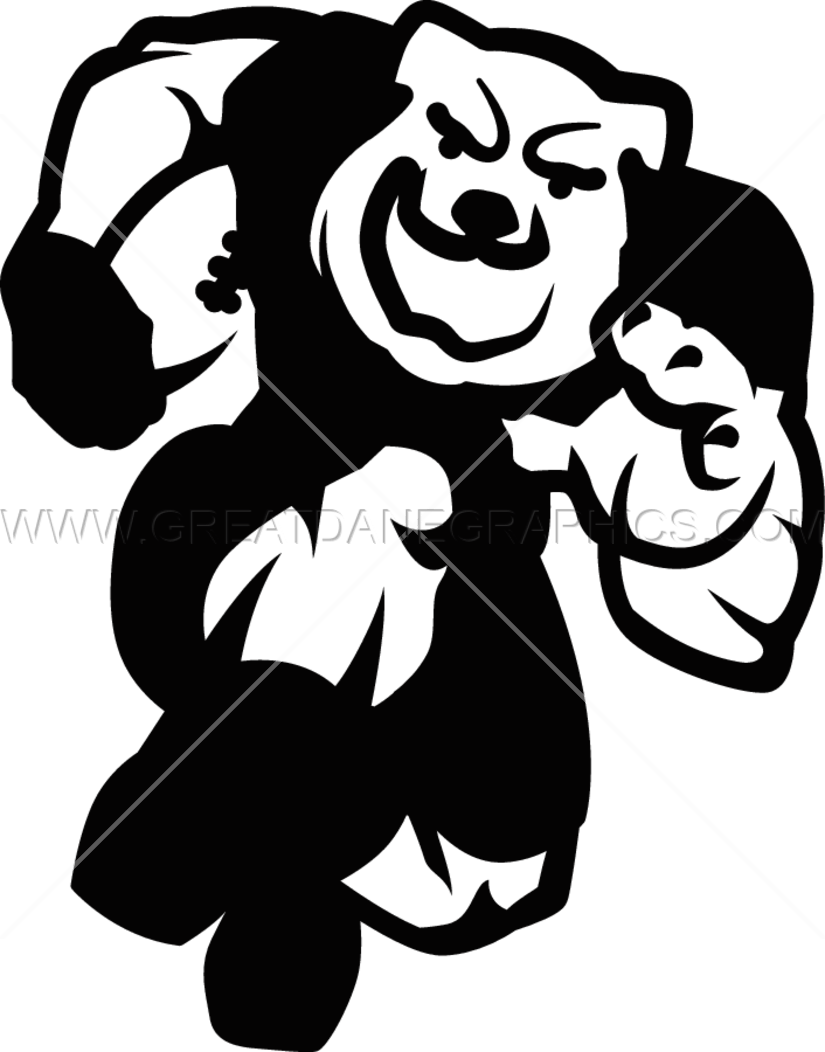Bulldog football mascot clipart svg freeuse download Bulldog Football Charge | Production Ready Artwork for T-Shirt Printing svg freeuse download