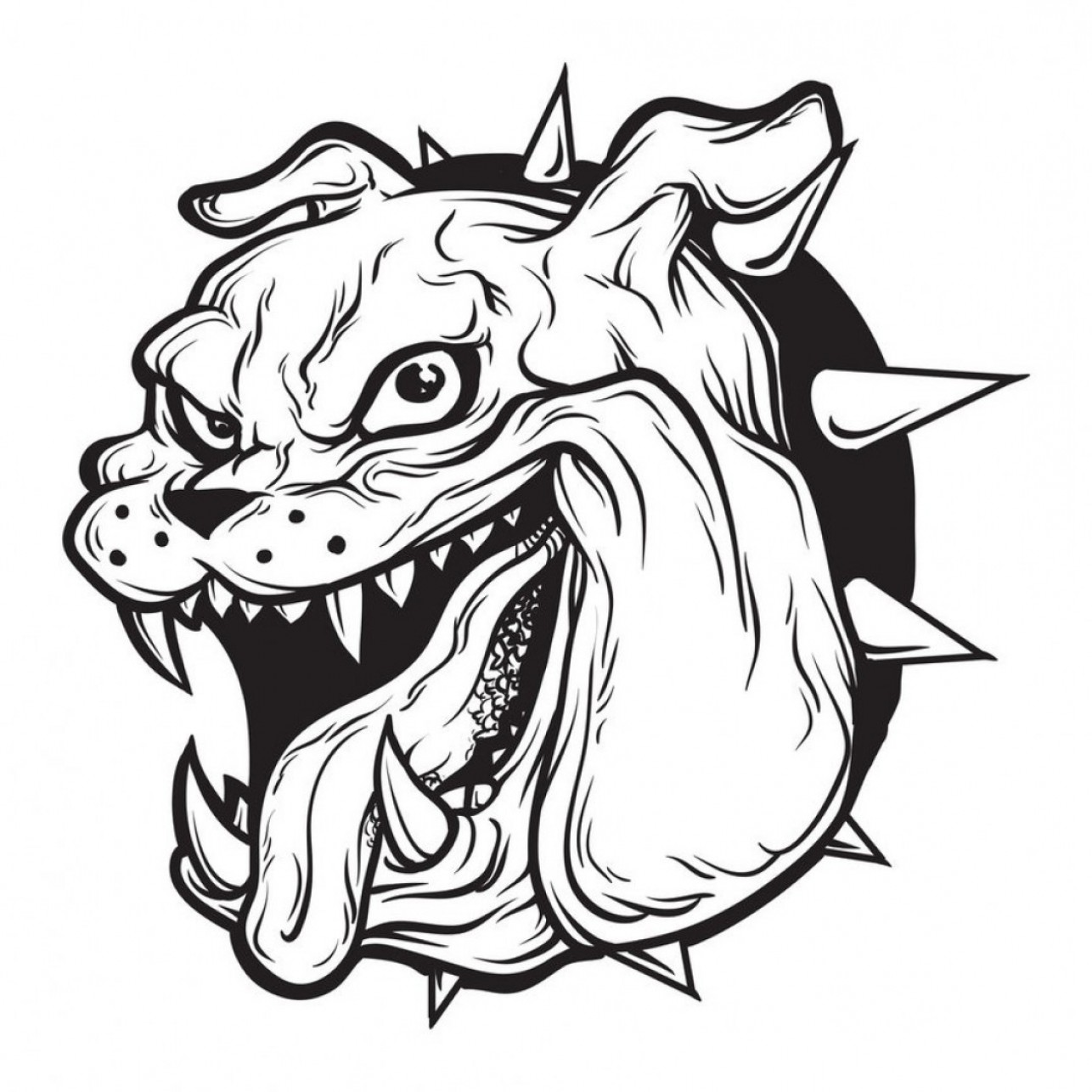 Bulldog head breaking out clipart black and white black and white download Graffiti Bull Dog Character Bulldog Vector Art Free Download Clip ... black and white download