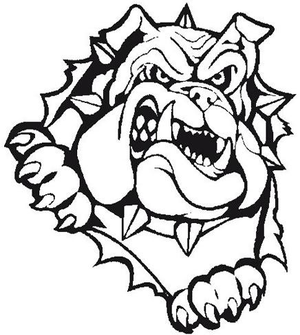 Bulldog head breaking out clipart black and white png library Bulldog Mascot Drawing | Free download best Bulldog Mascot Drawing ... png library