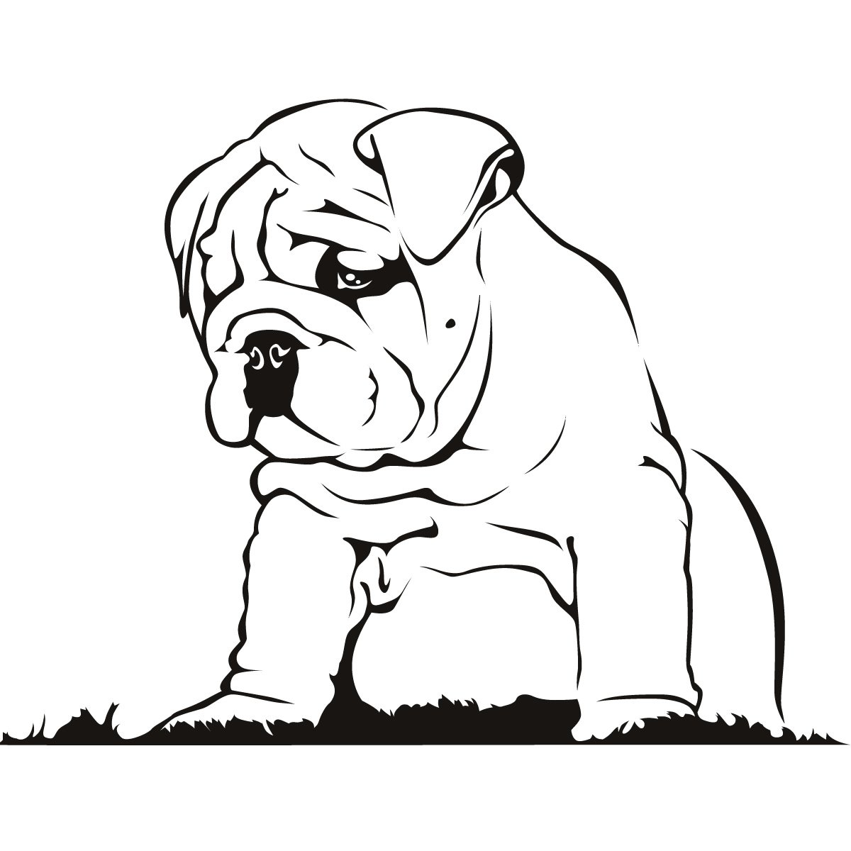 Bulldog puppies clipart svg black and white Bulldog Puppy Cliparts - Cliparts Zone svg black and white