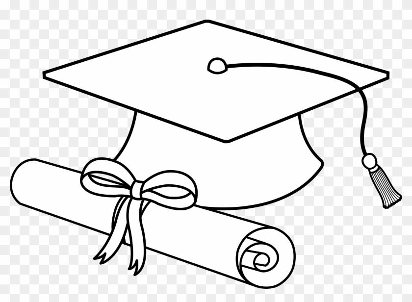 Bulldog with graduation cap clipart clip transparent Black And White Stock Graduation Caps Clipart - Graduation Cap ... clip transparent