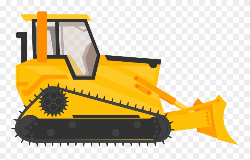 Construction machinery clipart clipart download Bulldozer Excavator Heavy Machinery Construction - Cartoon Bulldozer ... clipart download