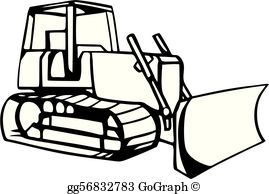 Bull dozer clipart svg transparent stock Bulldozer Clip Art - Royalty Free - GoGraph svg transparent stock