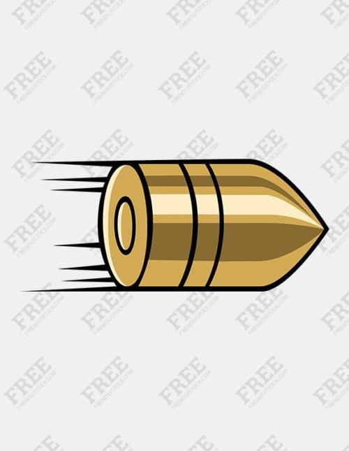 Bullet clipart png transparent Flying bullet clipart 3 » Clipart Portal png transparent