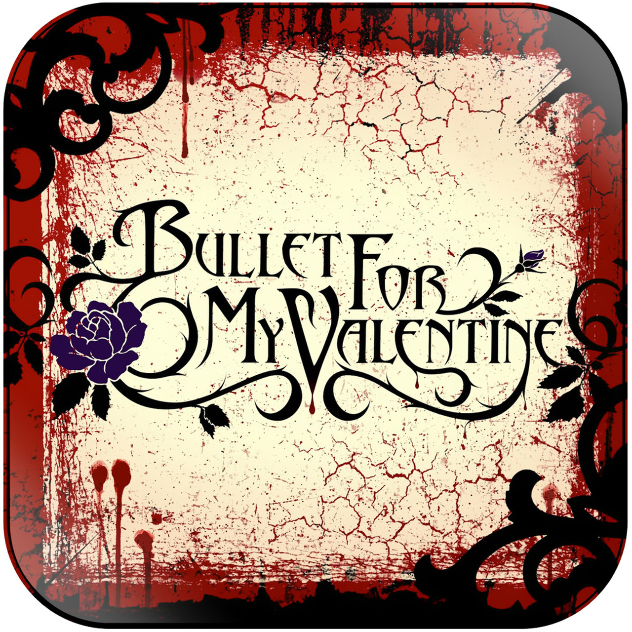 Bullet for my valentine clipart clipart black and white stock Bullet for My Valentine - Bullet For My Valentine-2 Album Cover Sticker  Album Cover Sticker clipart black and white stock