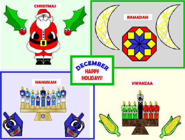 Bulletin boards celebrating holiday traditionsfor preschool clipart jpg transparent December Multi-Cultural Holidays Bulletin Board Projects jpg transparent
