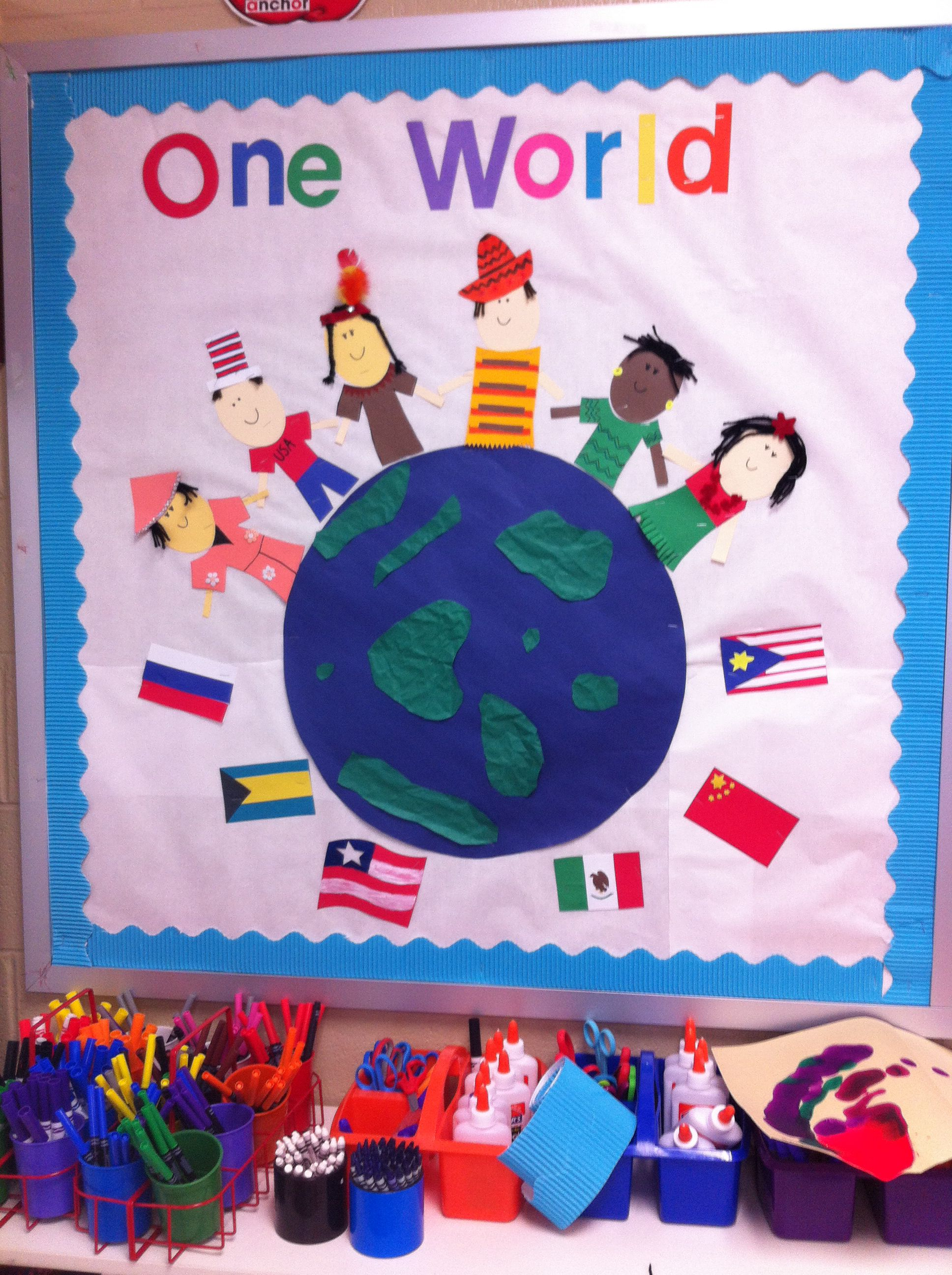 Bulletin boards celebrating holiday traditionsfor preschool clipart graphic All around the world bulletin board cypress ranch high school ... graphic