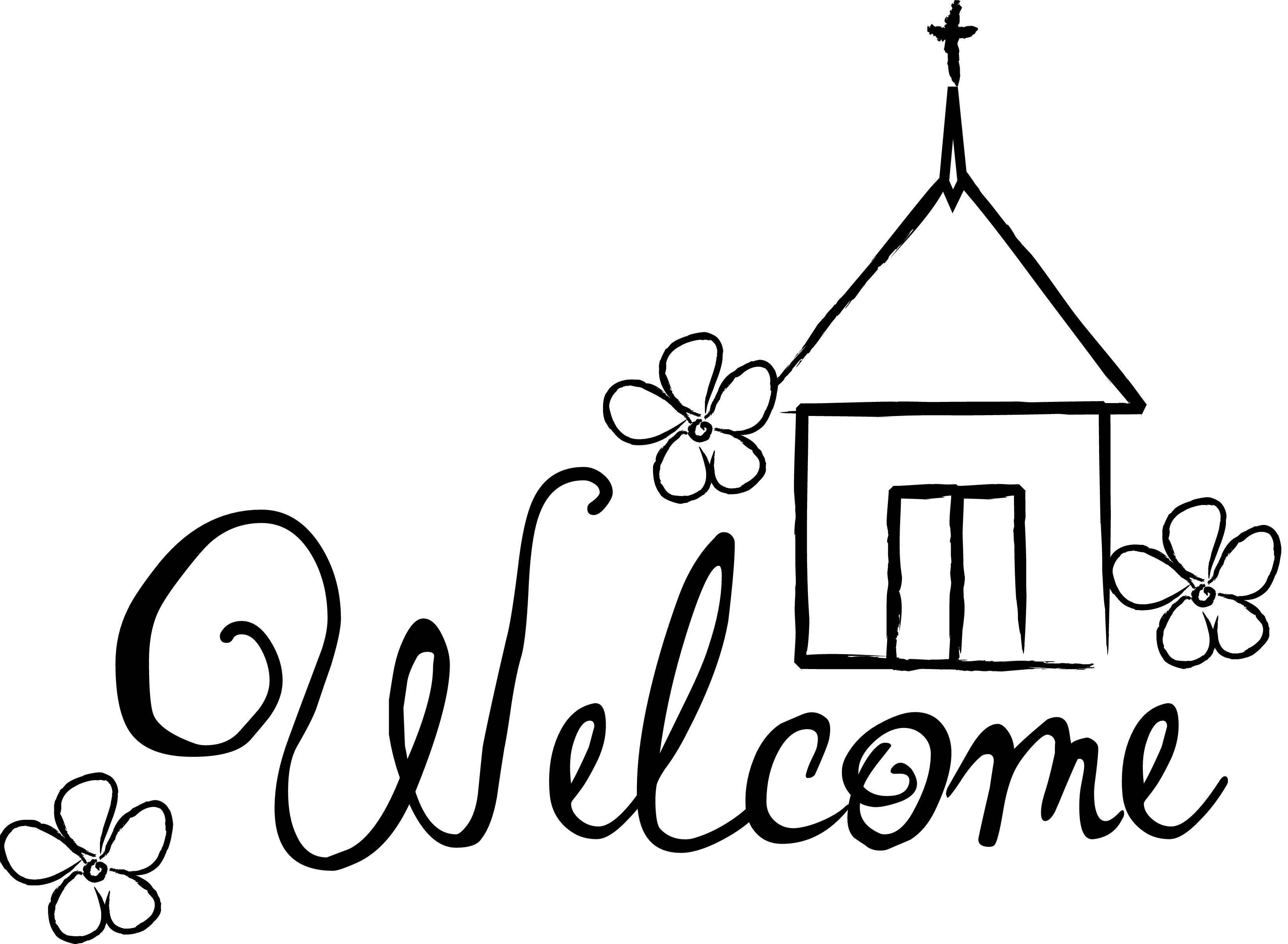 God bless our school clipart black and white image freeuse Church bulletin clip art black and white - Clip Art Library image freeuse