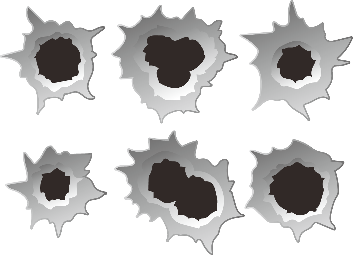 Bullets holes clipart png vector library library Bullet Holes PNG Pic | PNG Mart vector library library