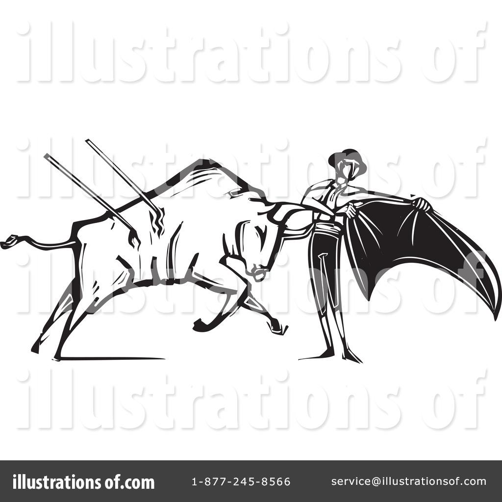 Bullfighting clipart clip transparent Bullfighting Clipart #1245229 - Illustration by xunantunich clip transparent