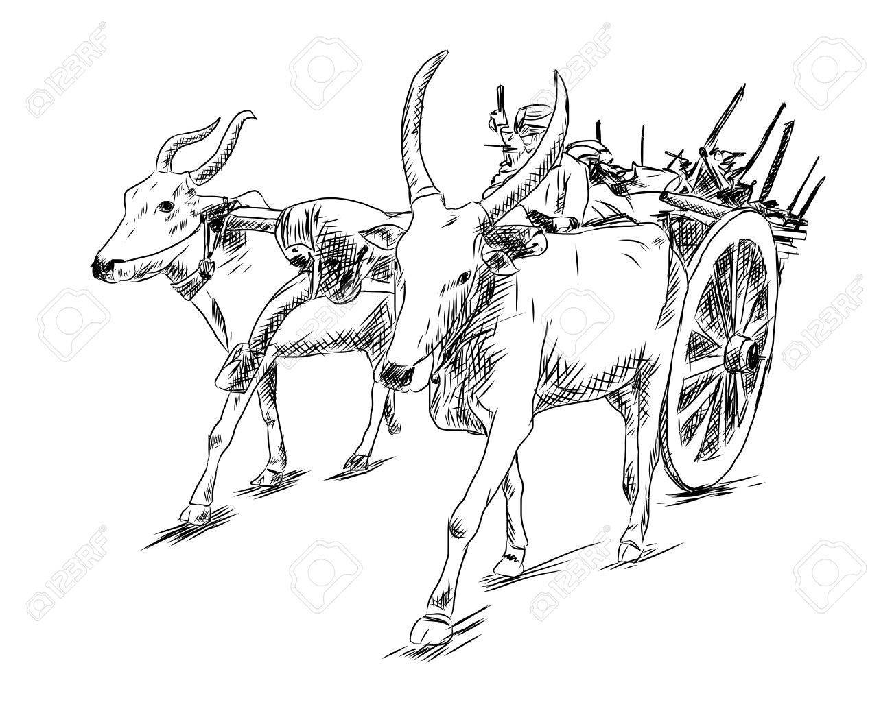 Bullock cart clipart graphic black and white library Bullock cart clipart 9 » Clipart Portal graphic black and white library