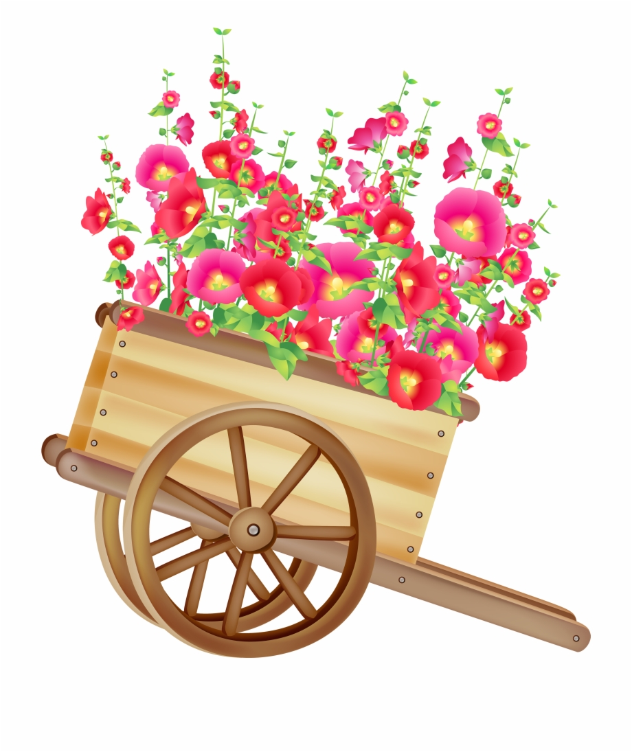 Bullock cart clipart banner library stock Wheelbarrow With Flowers Png Clipart - Bullock Cart Png Hd Free PNG ... banner library stock