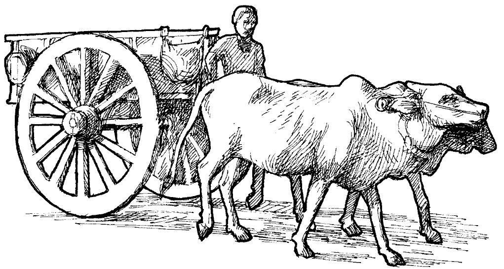 Bullock cart clipart svg black and white library Bullock cart clipart black and white 5 » Clipart Station svg black and white library