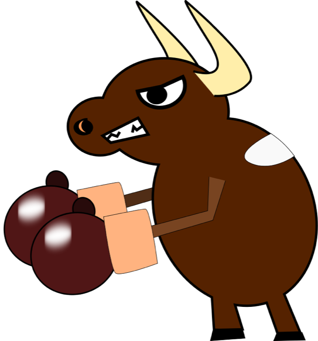 Bulls fighting clipart vector royalty free stock Cow Clipart & Animations - Free Graphics of Cows & Bulls vector royalty free stock