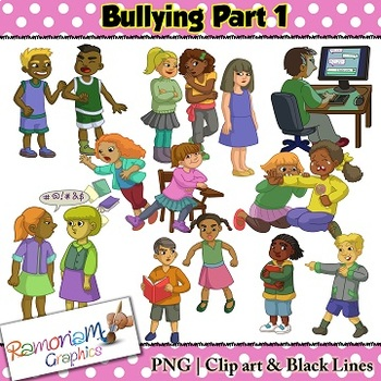 Bullyong clipart play svg black and white Bullying Clipart Worksheets & Teaching Resources | TpT svg black and white