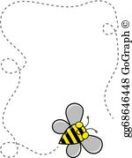 Bumble bee border clipart vector black and white download Bumble Bees Clip Art - Royalty Free - GoGraph vector black and white download