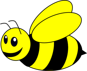 Bumble bee clipart vector picture library download Bumble bee yellow clip art at vector clip art online | hobby | Bee ... picture library download