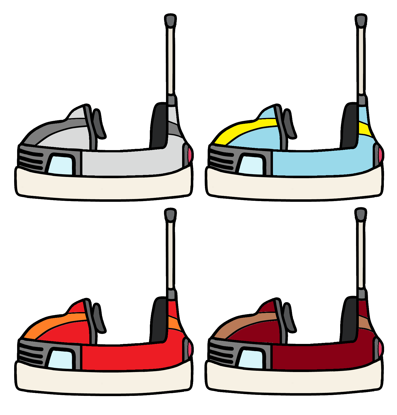 Bumper car clipart picture free Walfas Custom Props - Bumper cars by grayfox5000 on DeviantArt picture free