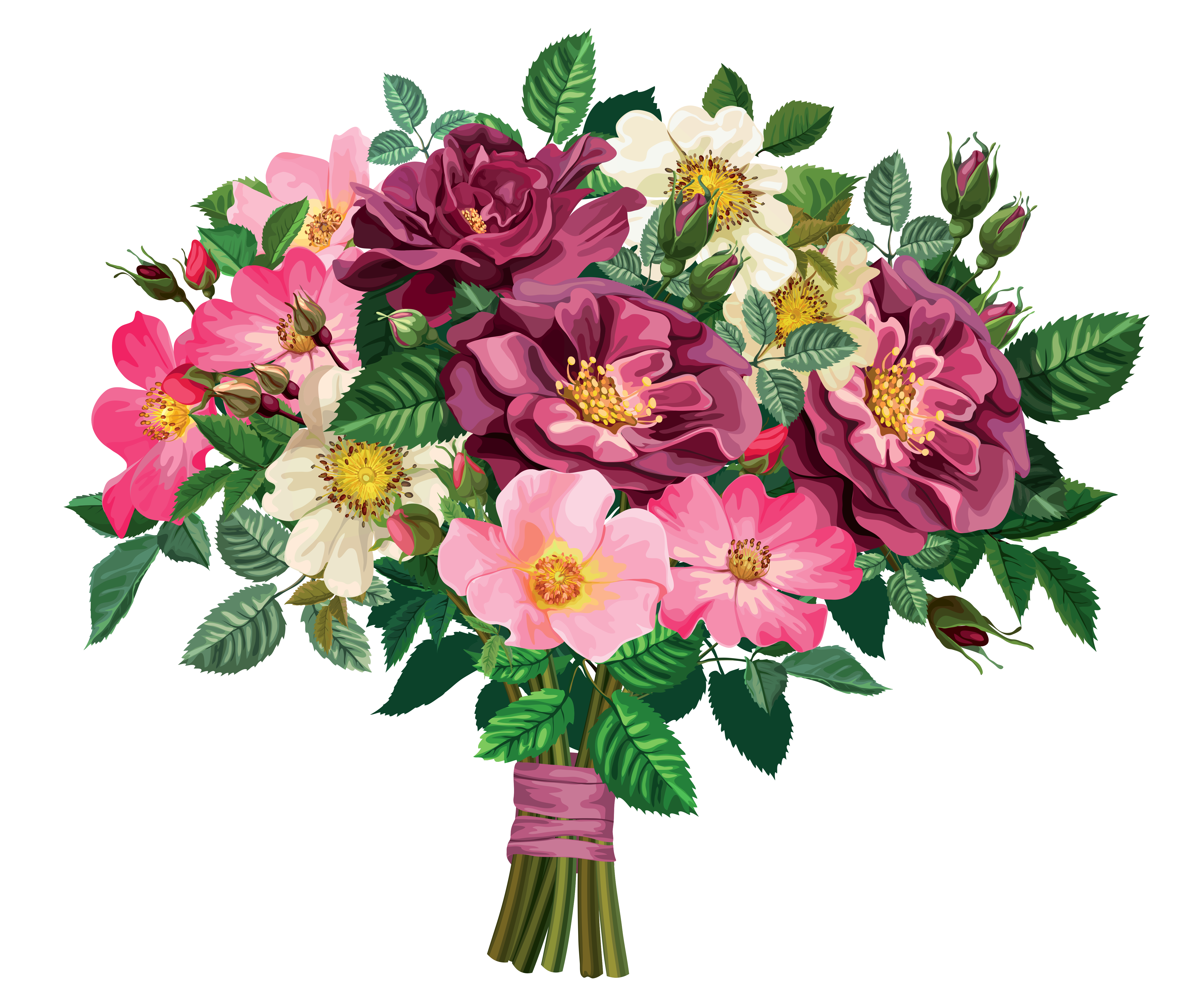 Bunch of flowers clip art png library stock Flower bunch clip art - ClipartFest png library stock