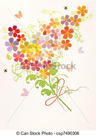 Bunch flowers clip art freeuse Bunch flowers Clip Art and Stock Illustrations. 15,769 Bunch ... freeuse