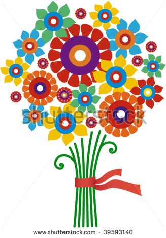 Bunch flowers clip art png free library Bunch Of Flowers Clipart - Clipart Kid png free library