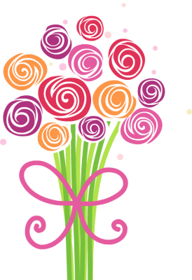 Bunch flowers clip art vector stock Bunch Of Flowers Clipart - Clipart Kid vector stock