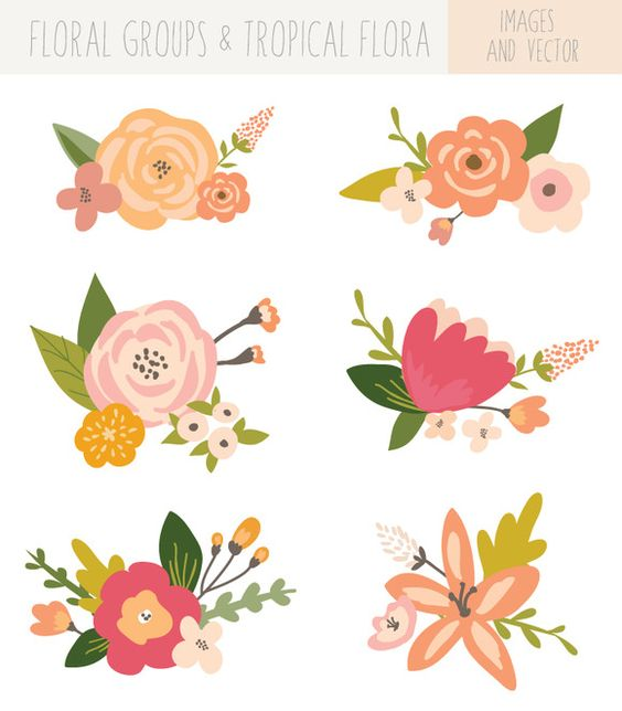 Bunch flowers clip art image library library Flower Bunches Clip Art - Tropical | Creative, Awesome and Clip art image library library