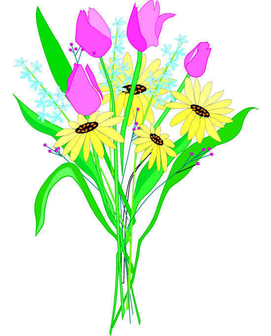 Bunch flowers clip art freeuse library Bunch Of Flowers Clipart - Clipart Kid freeuse library
