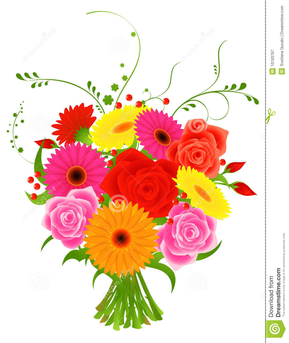 Bunch flowers images free clipart black and white download Bunch Of Flowers Royalty Free Stock Photography - Image: 10193767 clipart black and white download