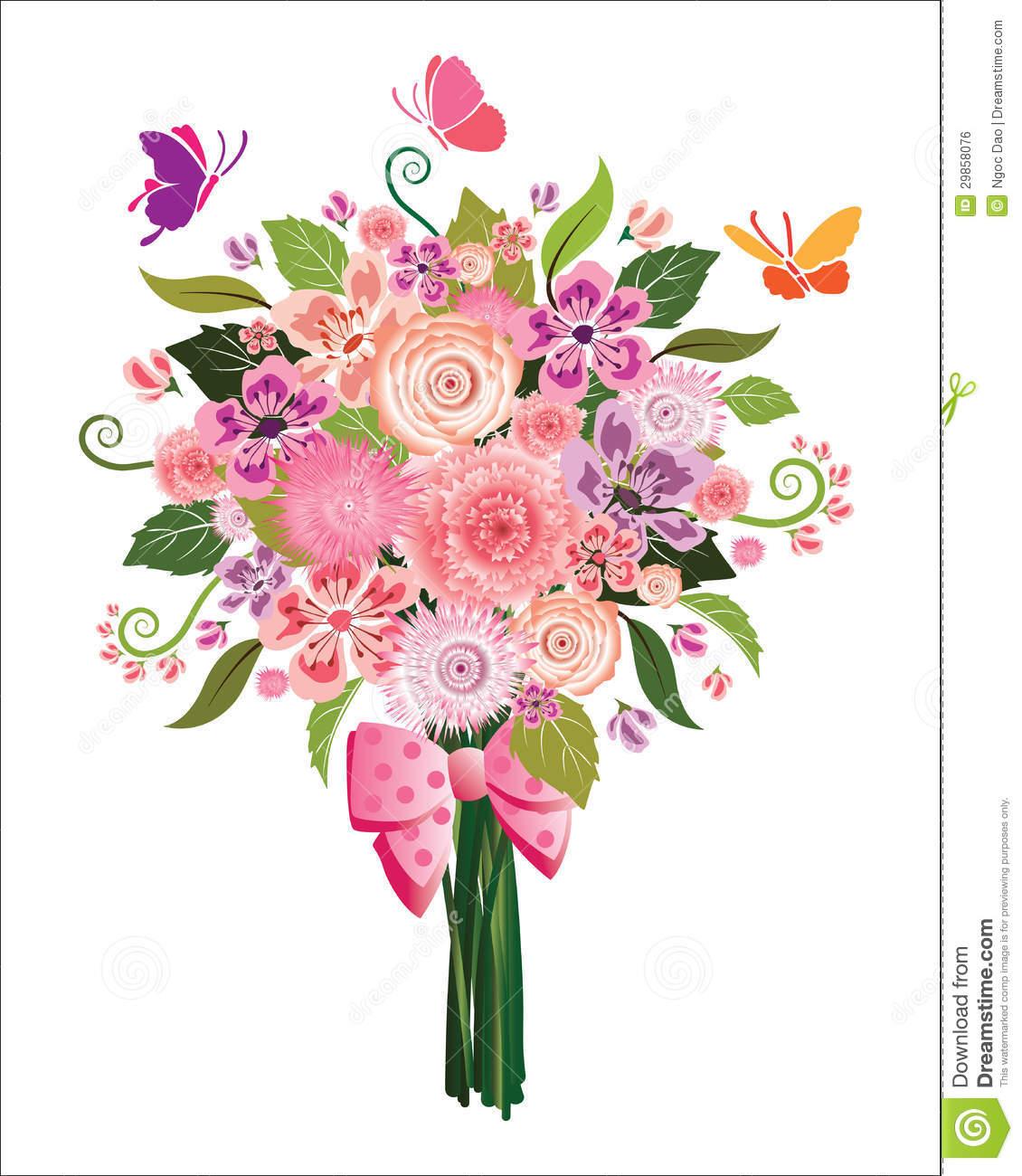 Bunch of flowers clip art vector Bunch of flowers clip art free - ClipartFest vector