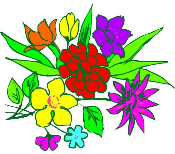 Bunch of flowers clip art free clip transparent Bunch of flowers clip art free - ClipartFest clip transparent