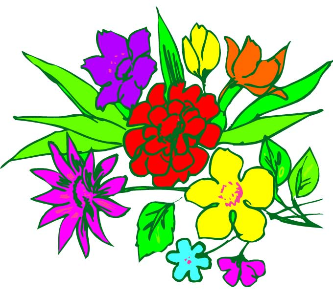 Bunch of flowers clip art free clip library Bunch Of Flowers Clipart - Clipart Kid clip library