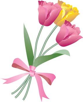 Bunch of flowers clip art free clipart Flower bouquet clipart free - ClipartFest clipart