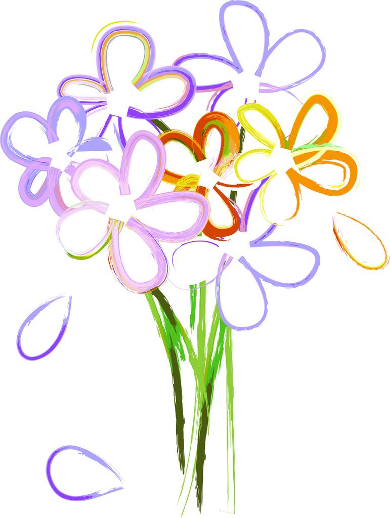 Bunch of flowers clip art free clip art stock Bouquet Of Roses Clipart - Clipart Kid clip art stock