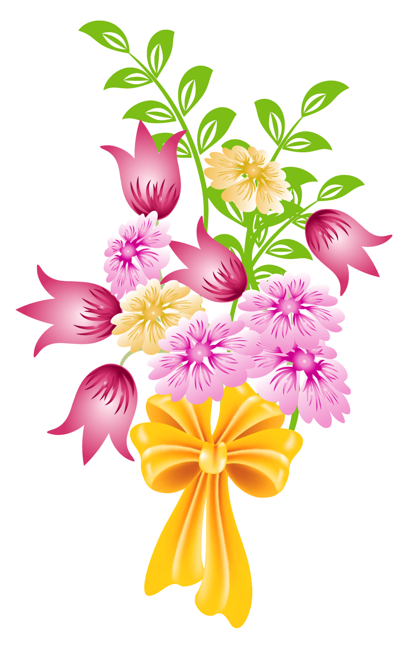 Flower clipart clear background clip royalty free Bouquet of flowers clipart background - ClipartFest clip royalty free