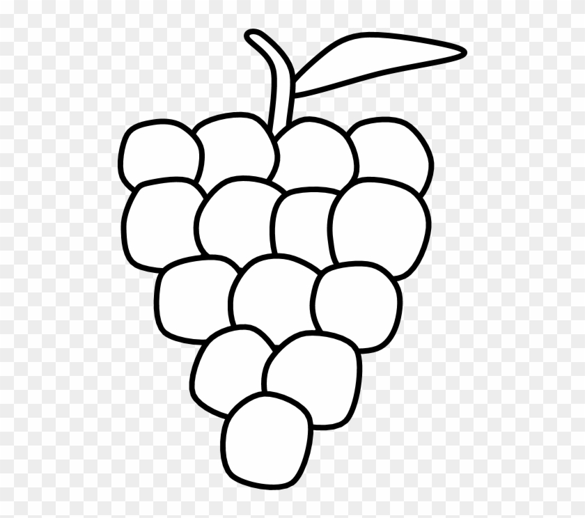 Bunch of grapes clipart black and white picture royalty free stock Grapes, Bunch, Black And White, Png - Seedless Fruit, Transparent ... picture royalty free stock