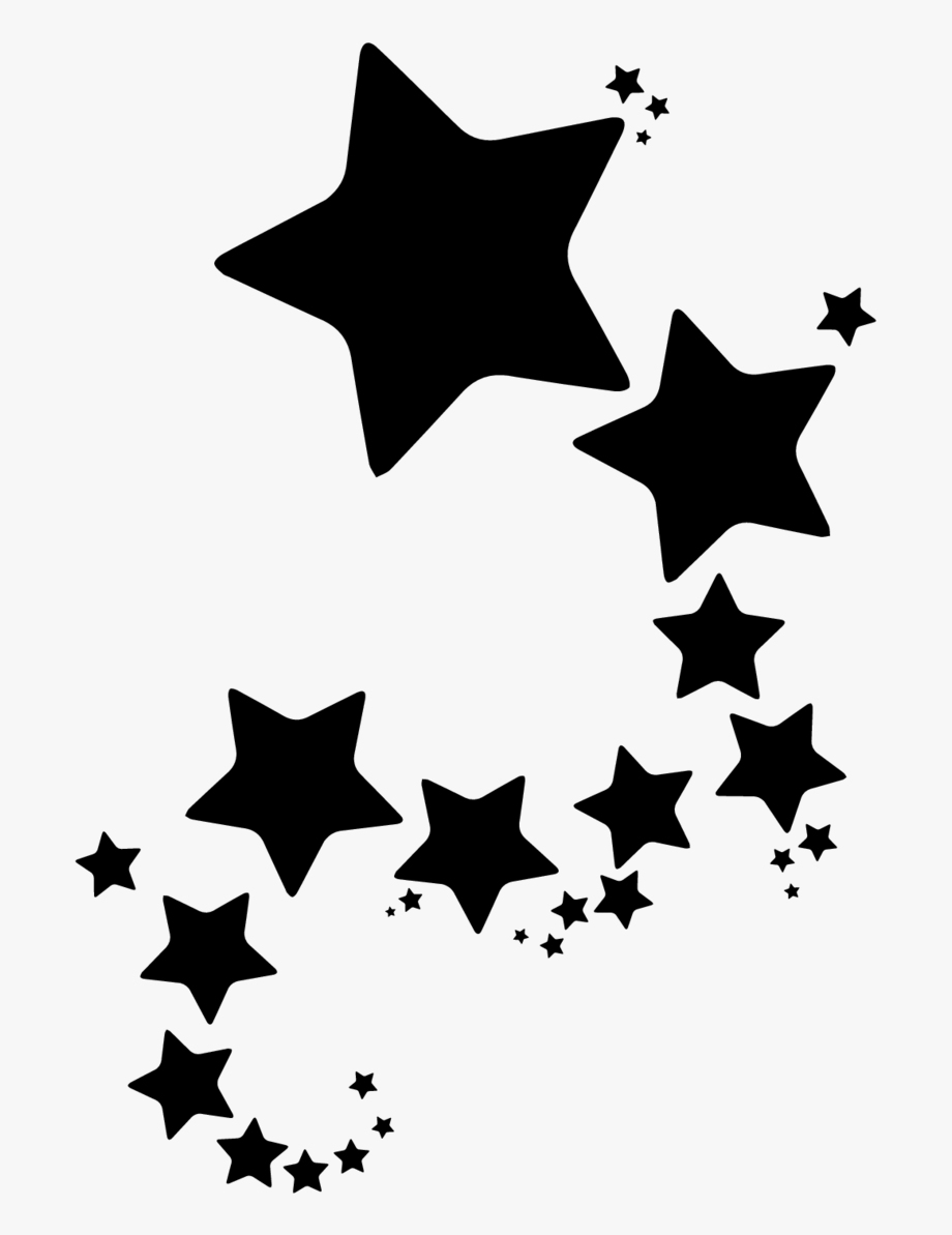 Bunch of stars clipart vector royalty free Group Of Stars Sticker - Clip Art Yellow Star Border, Cliparts ... vector royalty free