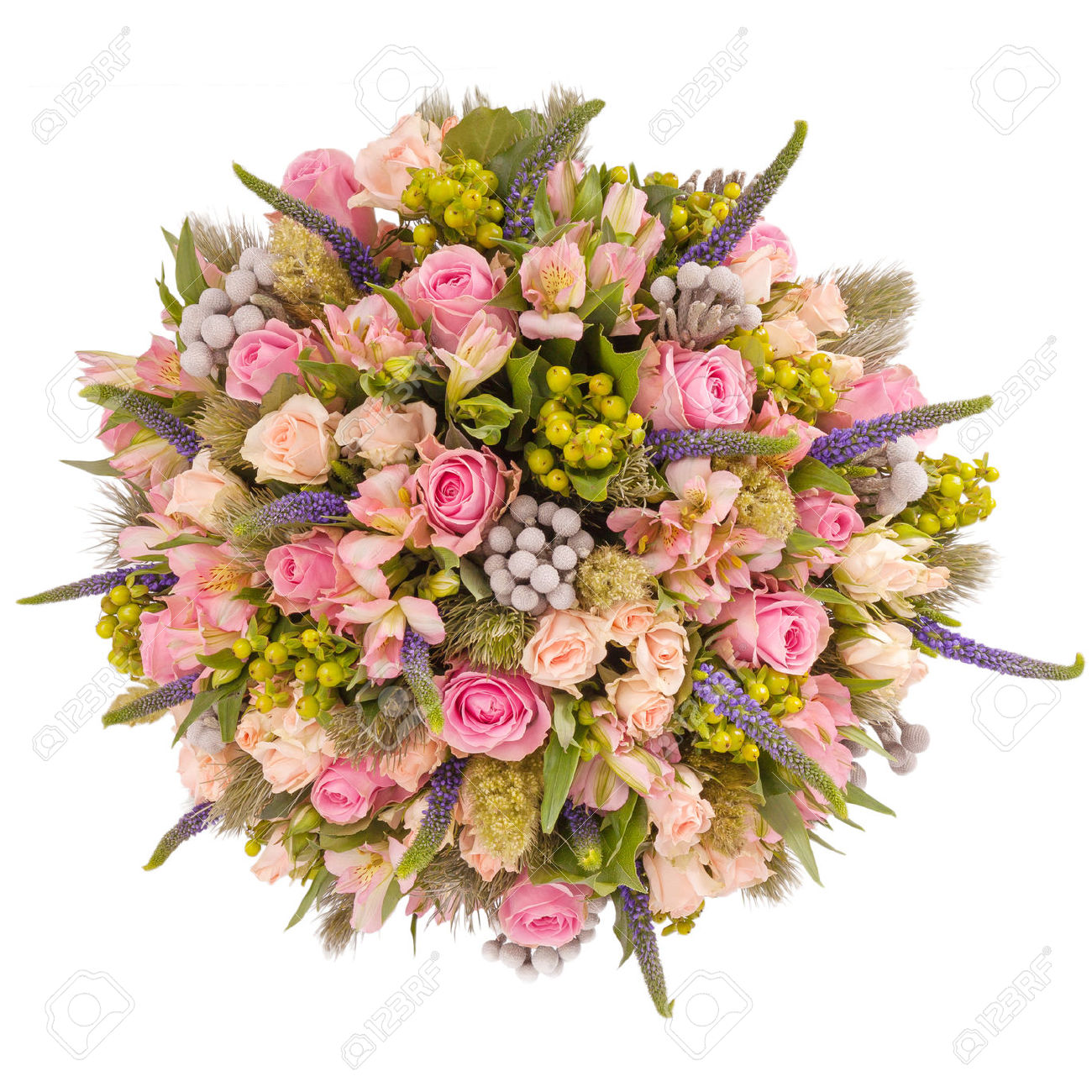 Bunches of flowers pictures free jpg stock Bouquet Of Flowers Top View Isolated On White. Stock Photo ... jpg stock