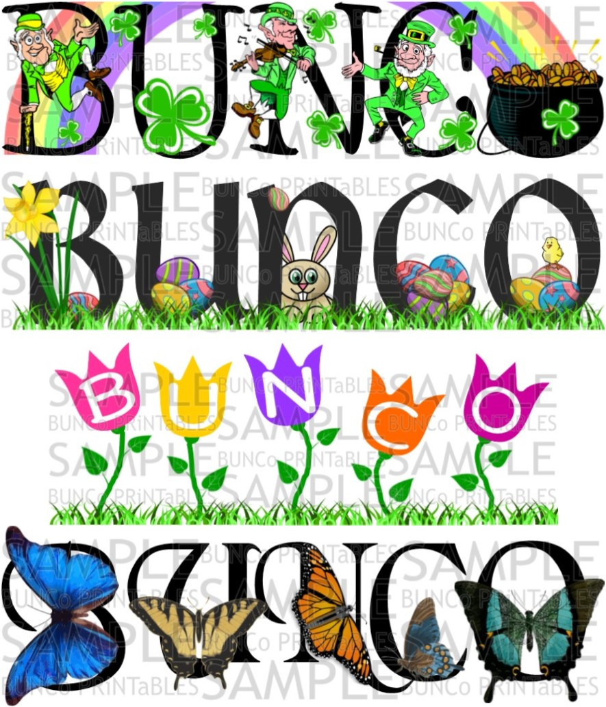 Bunco may clipart clipart library stock Seasonal Combo Packs - Bunco Printables clipart library stock