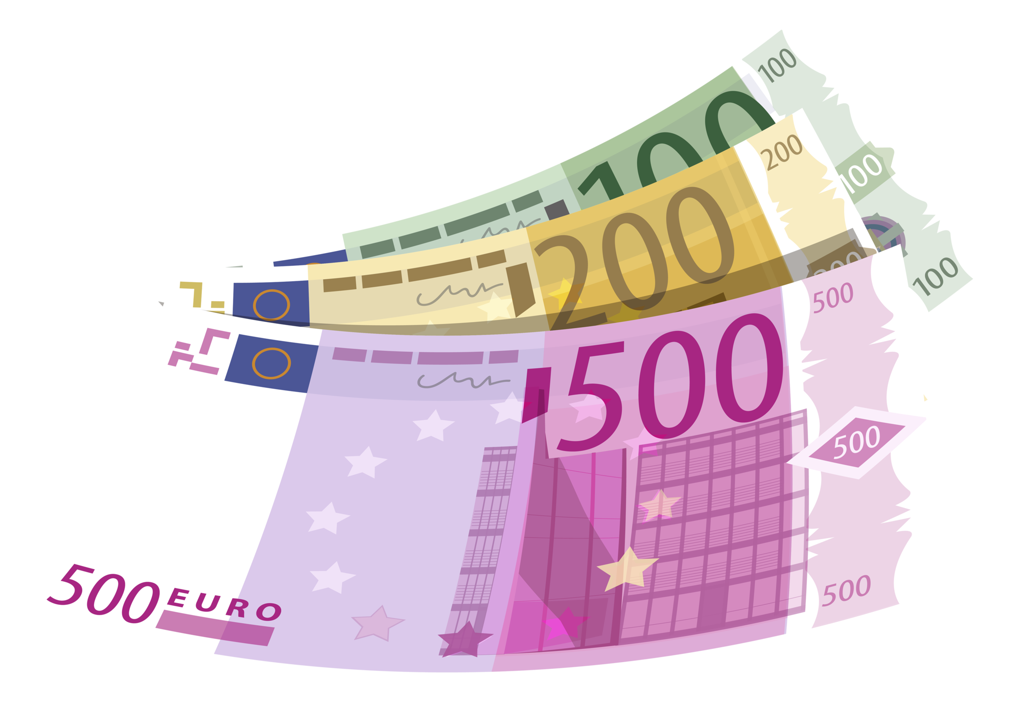 Banknotes Euro PNG Clipart 653 clip art free stock
